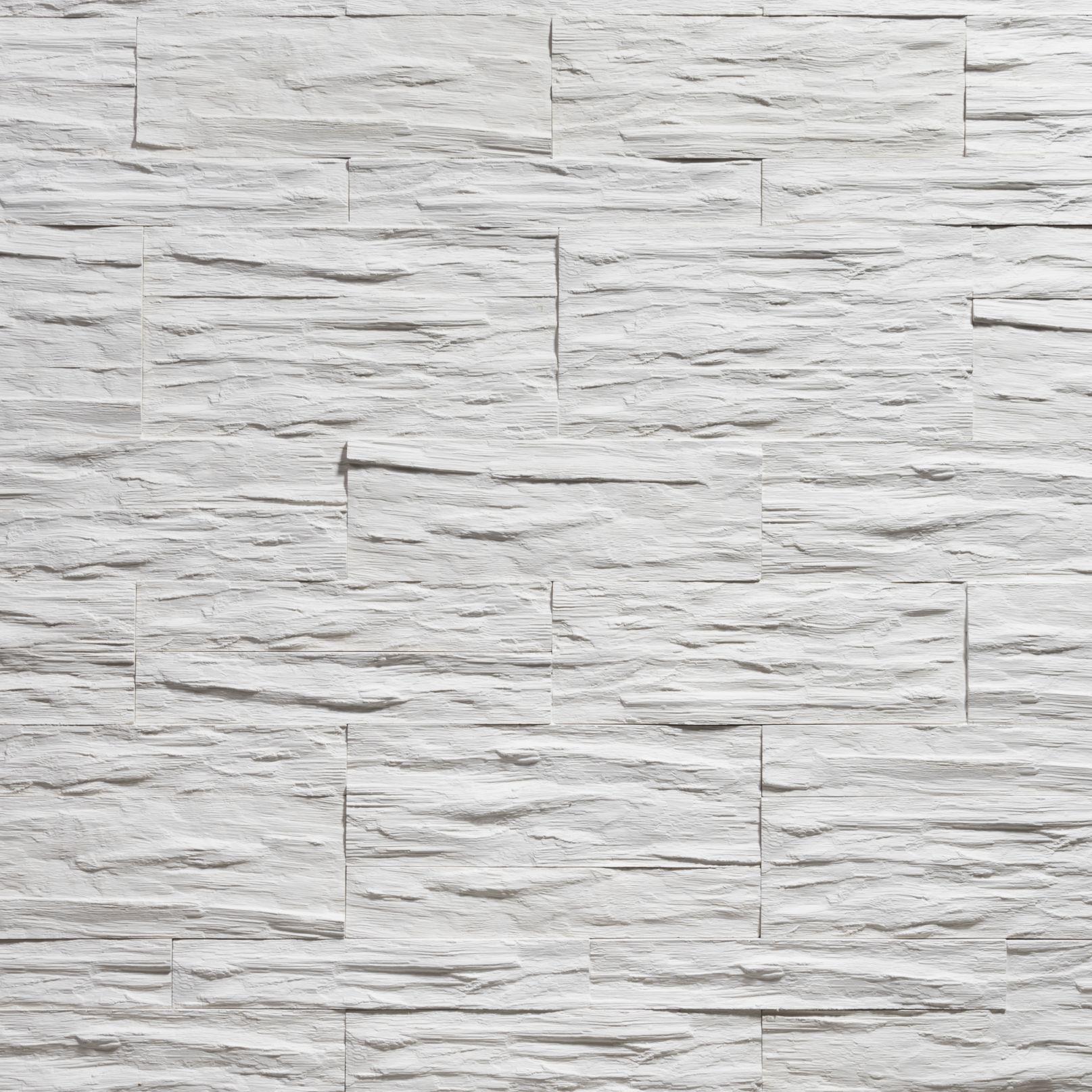 Rivestimento in pietra finta Effetto legno bianco_CGM_MANUFATTI