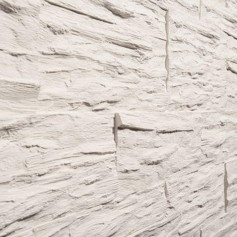 Rivestimento in pietra finta - CGM Manufatti lignum bianco