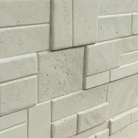 Rivestimento in pietra finta - CGM Manufatti tufello beige