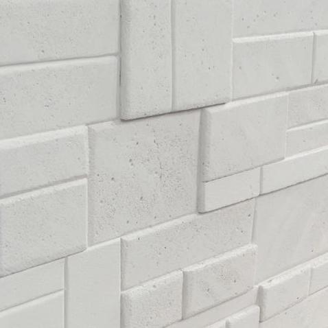 Rivestimento in pietra finta - CGM Manufatti tufello bianco