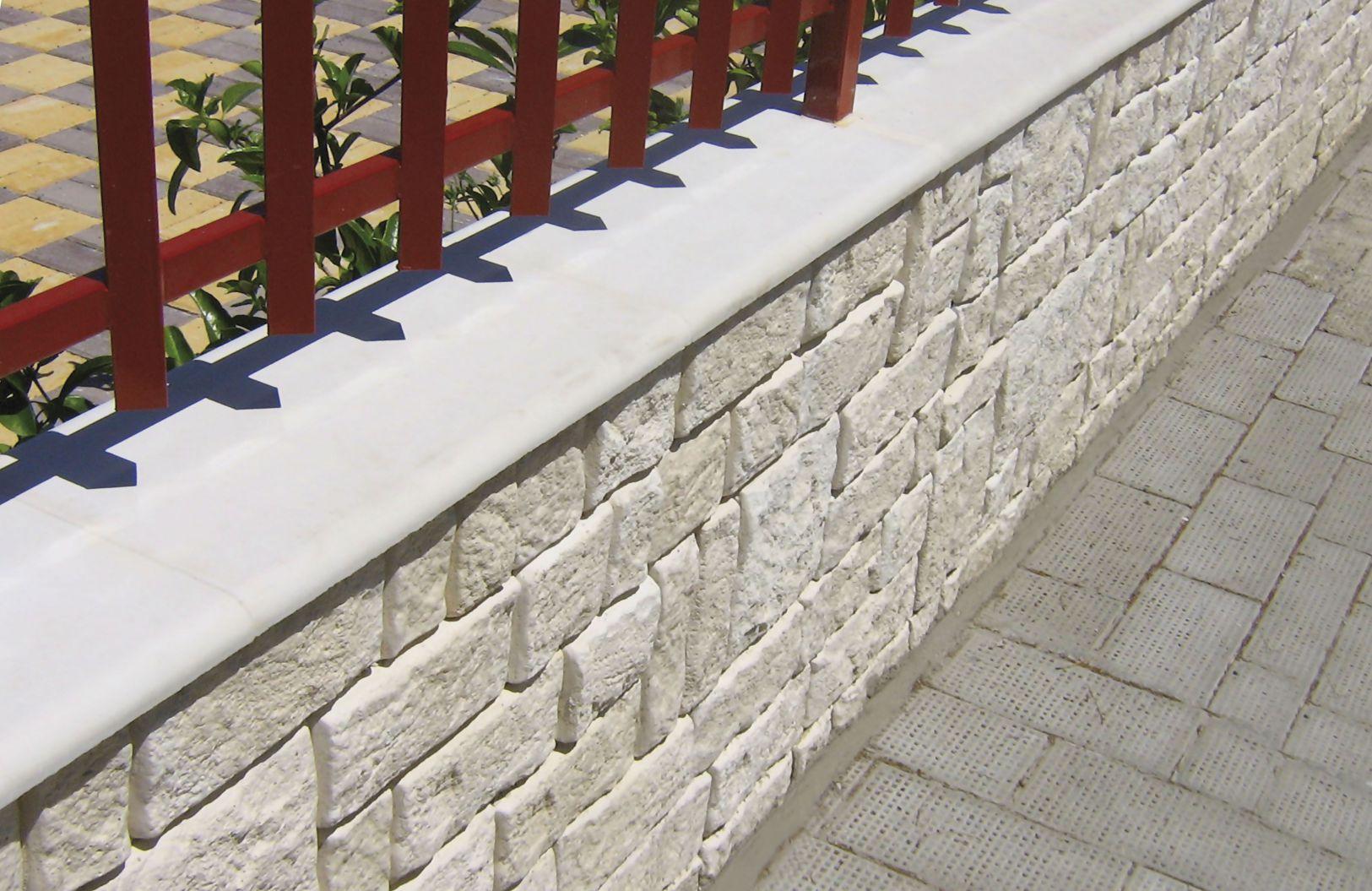 Copertine in cemento bianco coprimuro in cemento bianco - Copertine per muretti esterno in cemento prezzi ...