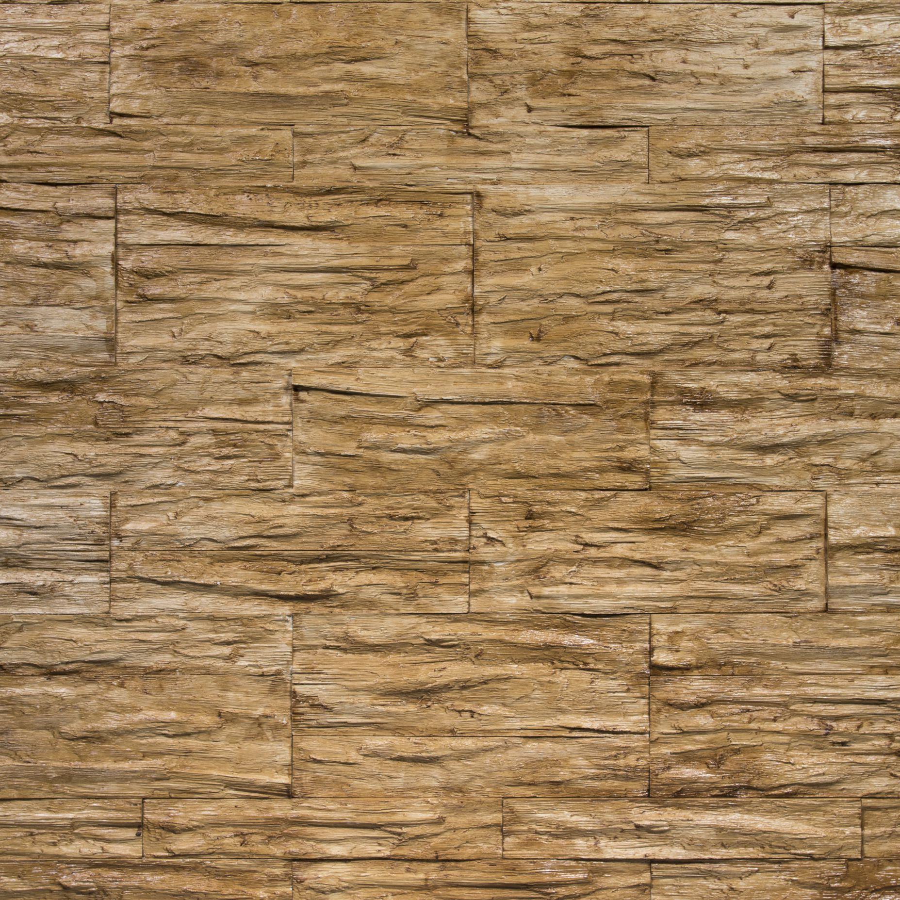 Rivestimento in pietra finta effetto legno - CGM Manufatti